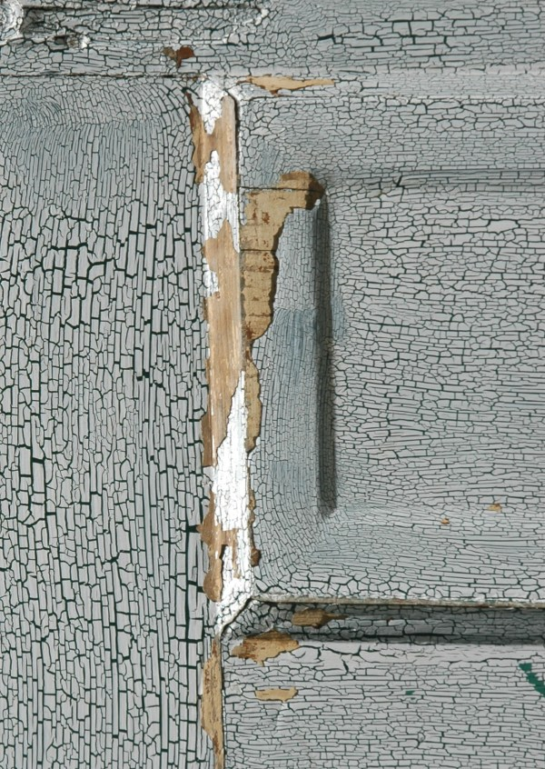 cracked paint on old door