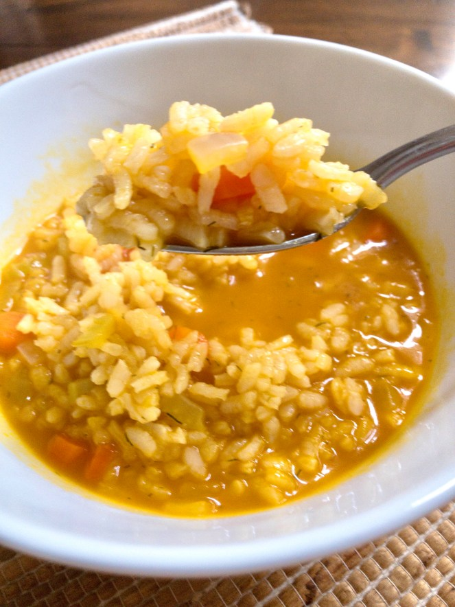 Carrot Rice Soup