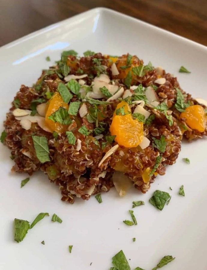 Almond and Mandarin Quinoa Salad