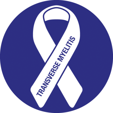 Awareness ribbon for Transverse Myelitis