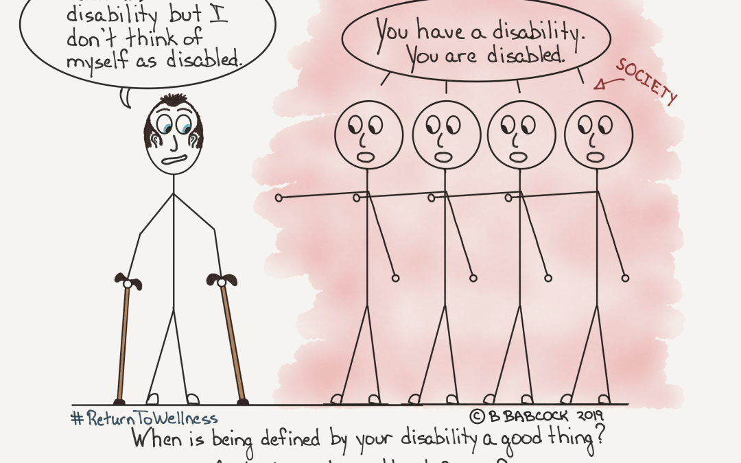 When is being defined by your disability a good thing?
