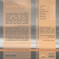 Survival by Reuf Sipovic | First Print Edition - Back Cover