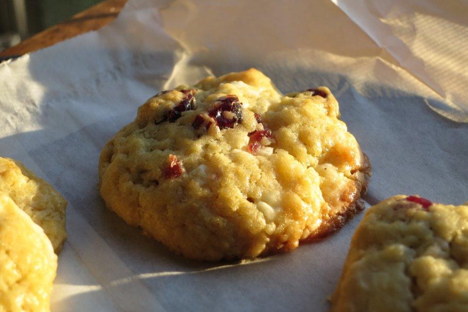 Cranberry Kekse mit weisser Schokolade