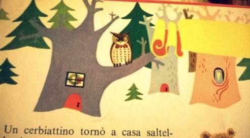 Particolare: il gufo e la casetta nell'albero...