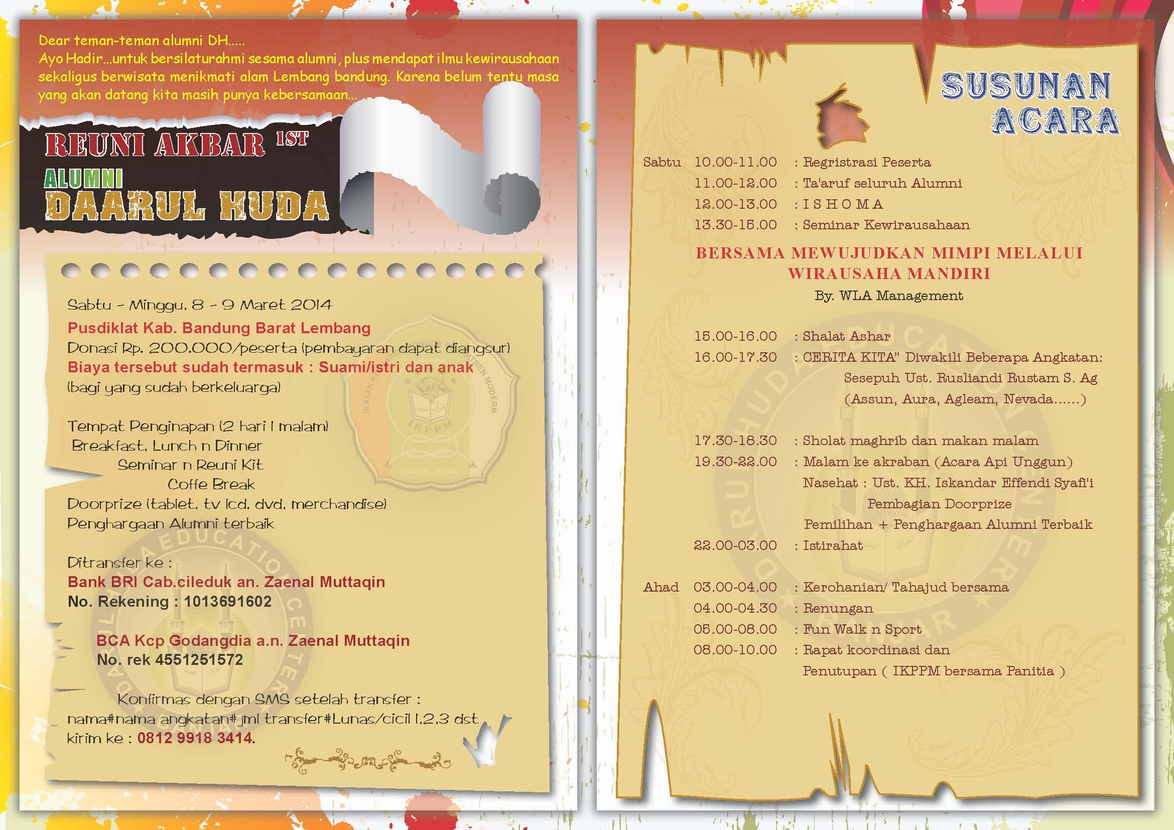 Come On Join Us Temu Kangen Seminar Wirausaha Dan Wisata