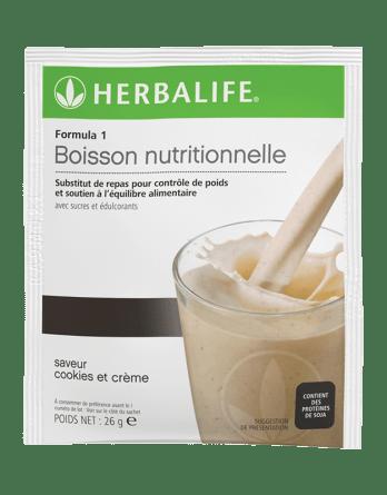 Sachets Formula 1 Cookies et Crème Herbalife