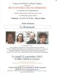 12092013 - Rencontres Francophones - Francois Fournet et la Poésie roumaine