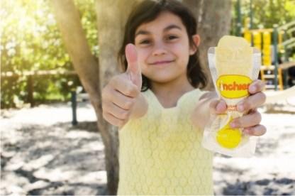 Happy child with Sinchies Ice Pop