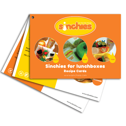 Sinchies lunchbox recipe cards