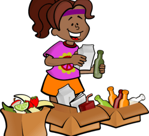 children help recycle