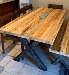 banc en bois recycle reuse inc