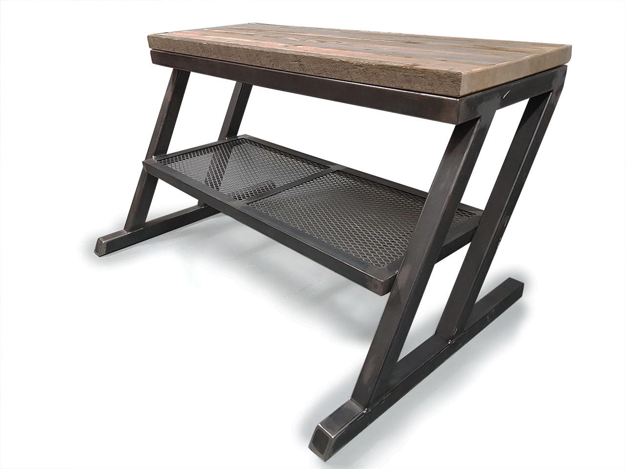 meuble tele bois recycle et structure d acier
