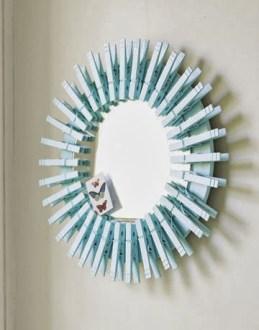 espelho de material reciclado prendedores arquitrecos via bricolage decoração