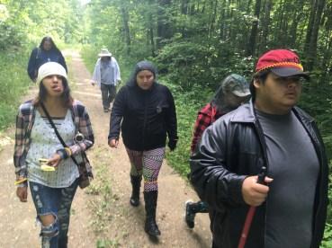 Hiking to Undisturbed site