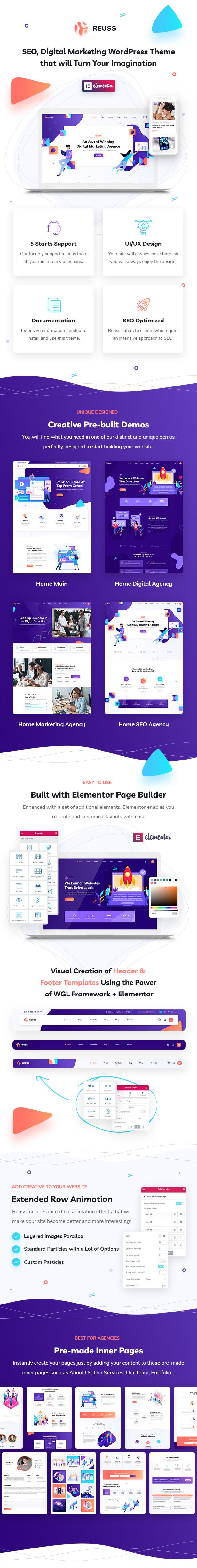 Reuss - SEO Marketing Agency WordPress Theme - 2