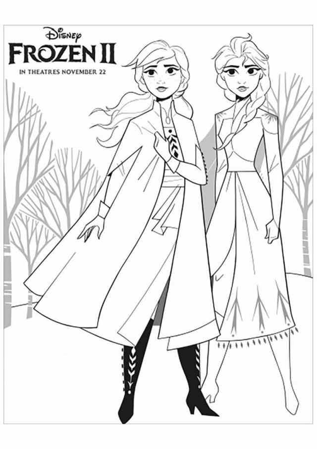 Coloriage Reine des Neiges Gratuit  144 dessins à imprimer en 14 clic