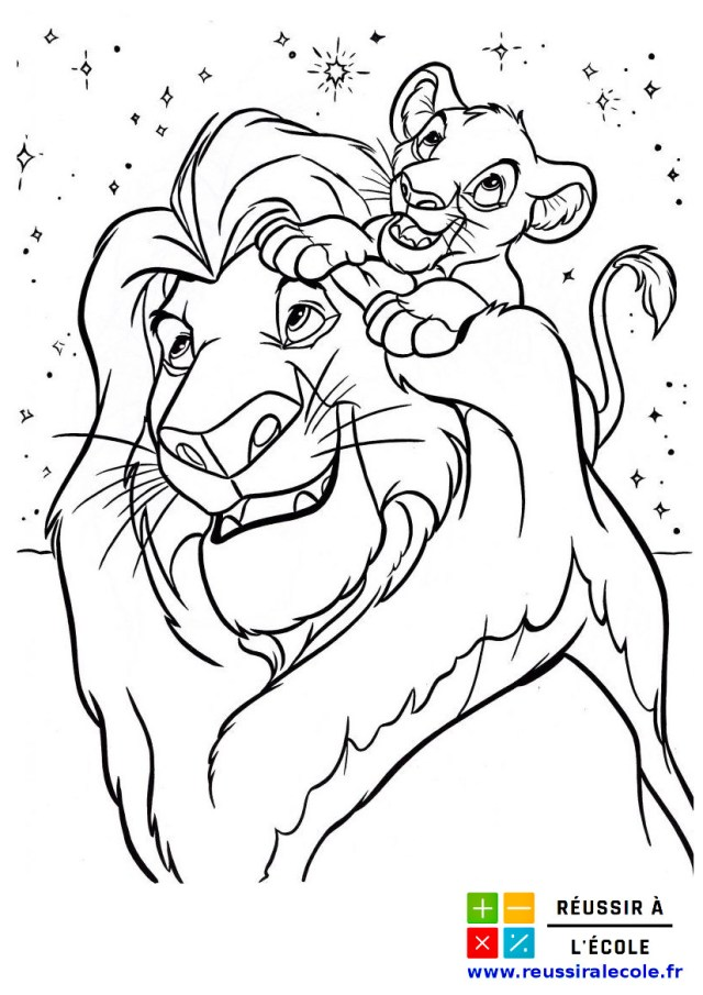 Coloriage Roi Lion GRATUIT  28 images à imprimer et à colorier