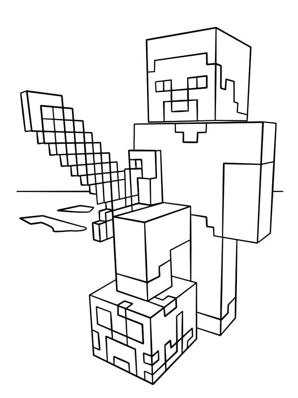 Coloriage Minecraft Gratuit 20 Supers Dessins A Imprimer