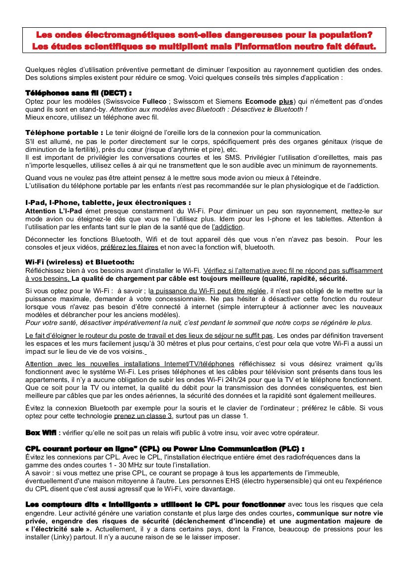 Règles d'utilisation page 1