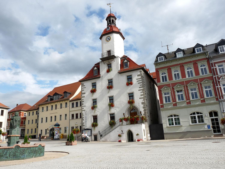 Schmölln, Marktplatz-Rathaus