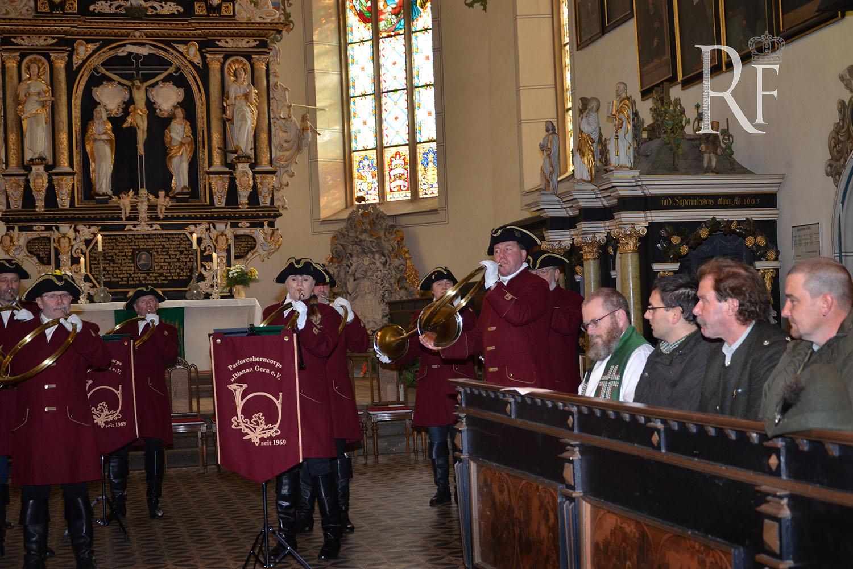 Hubertusmesse in Schleizer Bergkirche