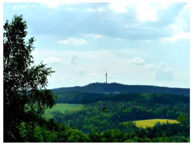 Blick von Reinsdorf zum Kuhberg einem schönen Ausflugsziel