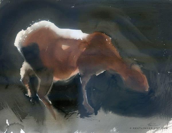 vache aquarelle