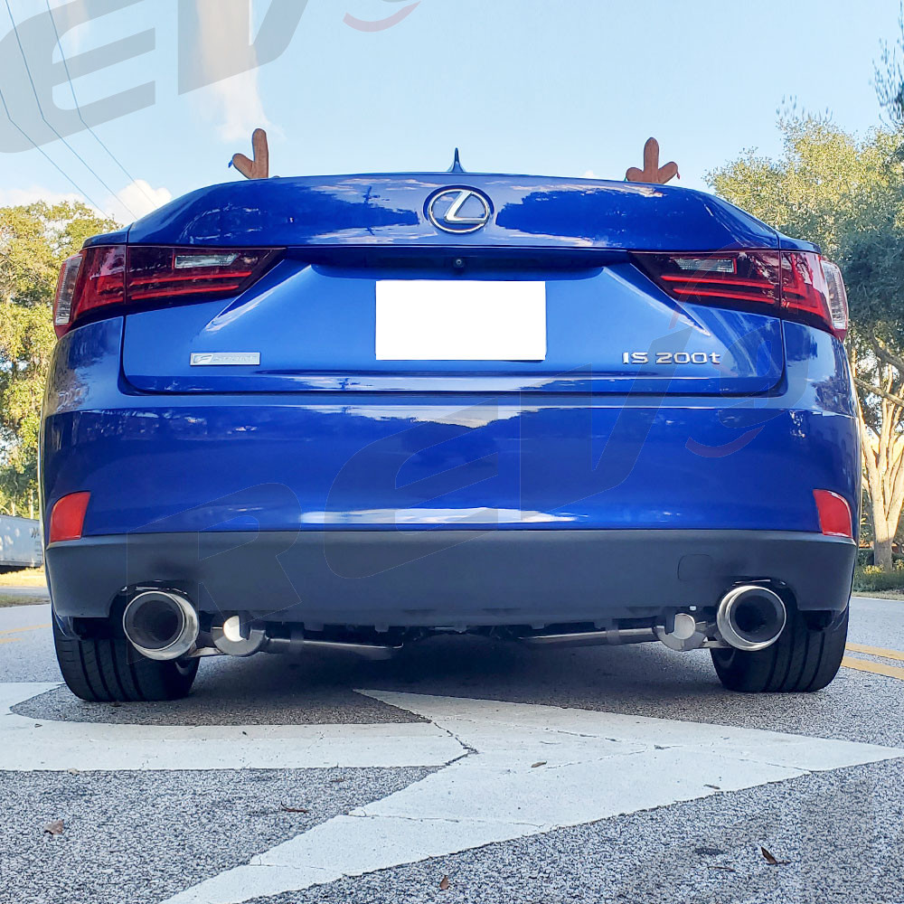 lexus is xe30 2014 16 flowmaxx stainless axle back exhaust system 60mm pipe