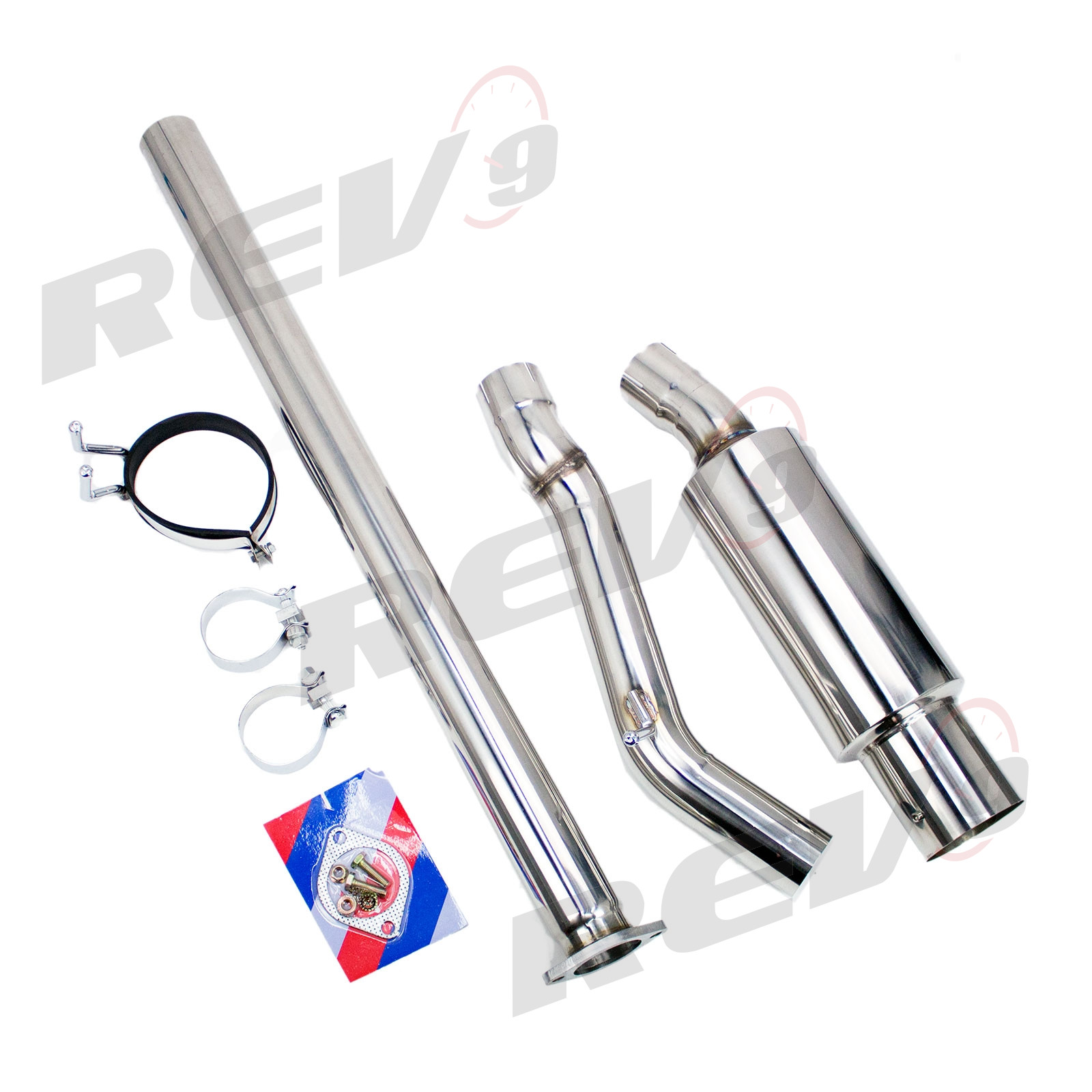 single exit cat back exhaust kit stainless steel 3 inch pipe mitsubishi evolution x 08 15