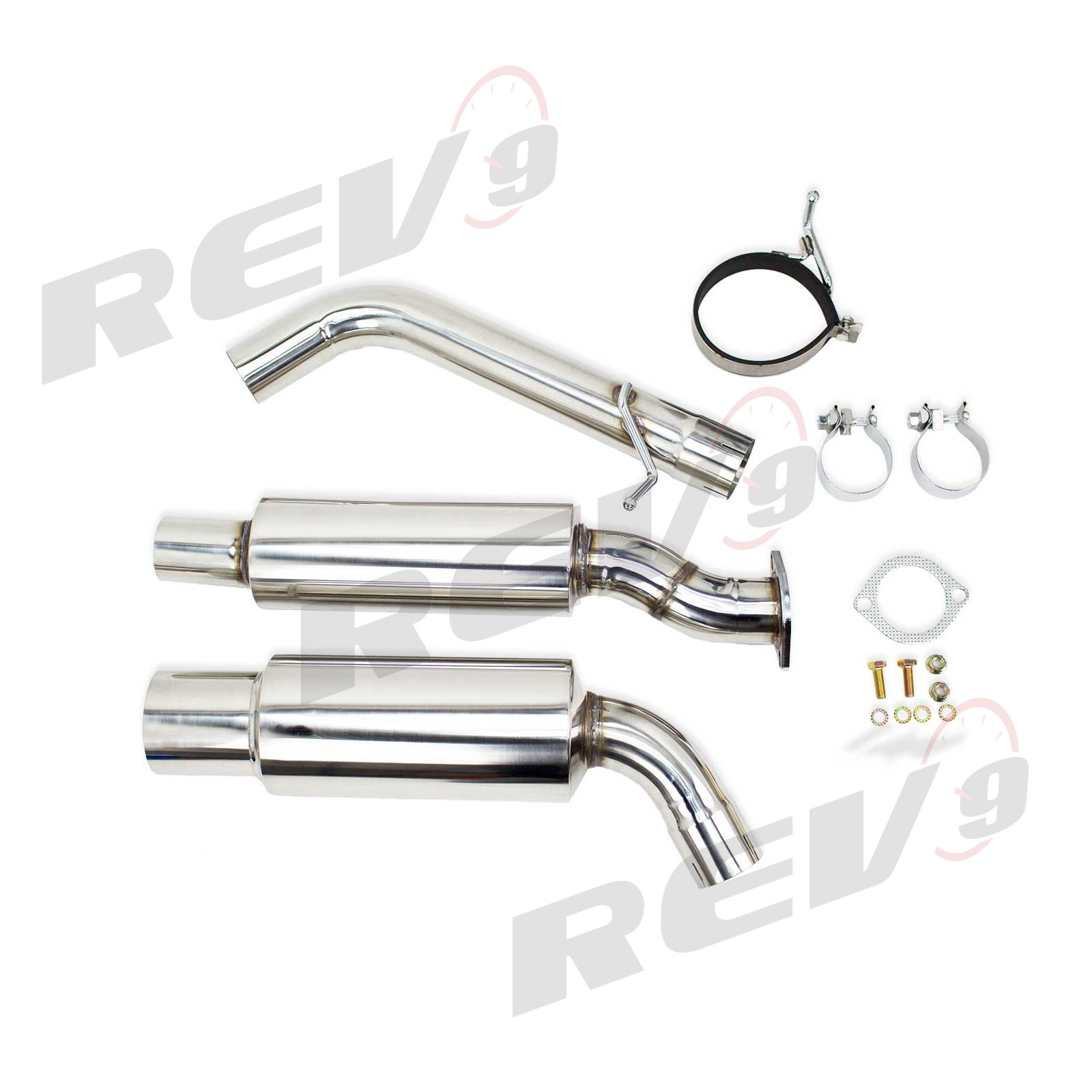Rev9power Single Exit Cat Back Exhaust Stainless Steel
