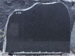 Hauakivi: K64 (kõrgus45cm./laius56cm.)