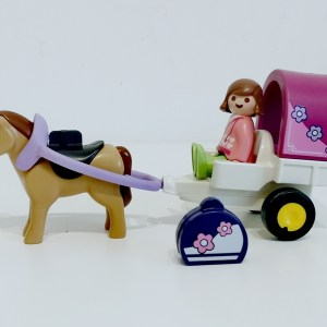Carriole avec cheval PLAYMOBIL 123