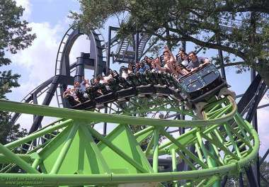 The Mind Bender at Six Flags over Georgia. The first inverted roller coaster I ever rode.