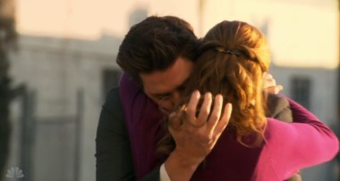 An uncomfortably long 30 seconds elapse before Pam returns Jim's embrace.