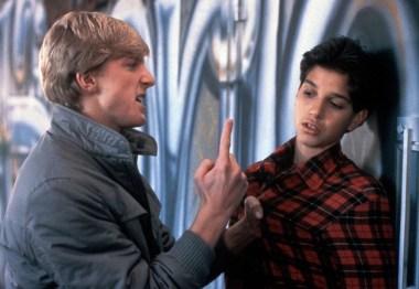 Johnny, played by William Zabka, threatens Ralph Macchio's character in The Karate Kid.