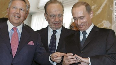 Vladimir Putin admiring his new Super Bowl ring.