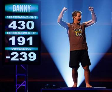 Danny Cahill in 2009, after winning The Biggest Loser.