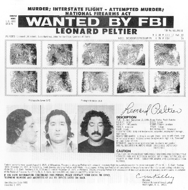 Leonard Peltier Wanted Poster