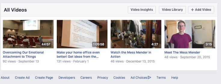 Your Facebook Video Library  Using Facebook Live Screen Shot 2017 12 24 at 12