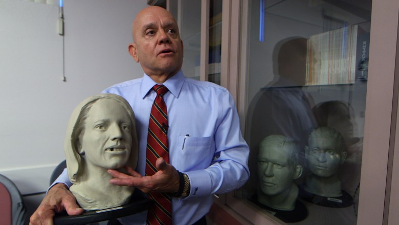 Former Las Vegas Coroner Michael Murphy discusses the facial reconstruction process used to identify human remains.