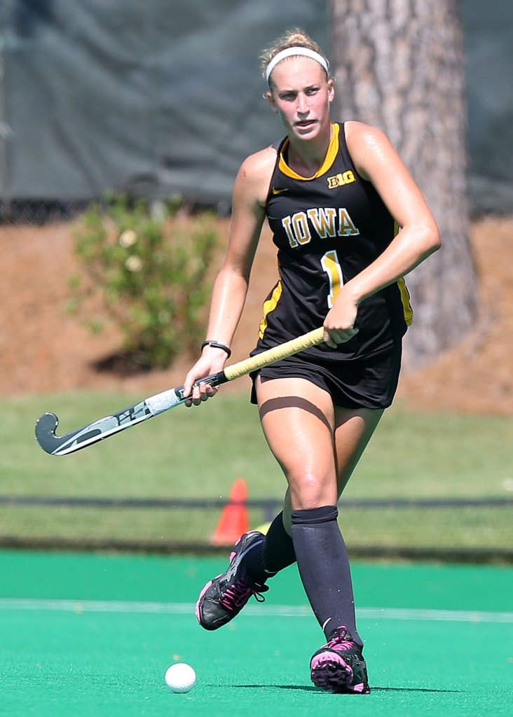 Chandler Ackers (pictured) and three other field hockey players filed a civil rights complaint against the University of Iowa after Tracey Griesbaum was fired, alleging a violation of Title IX.