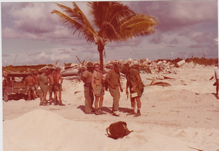 Enewetak Atoll was among the area subjected to the Marshall Islands radiation cleanup. Eight thousand personnel worked on the cleanup from 1972 to 1980.