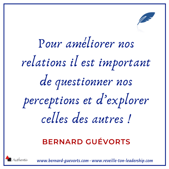 Citation sur la perception et les relations