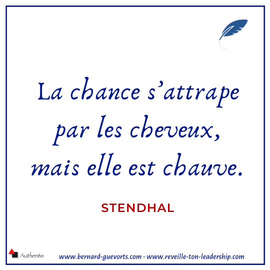 Citation de Stendhal sur la chance