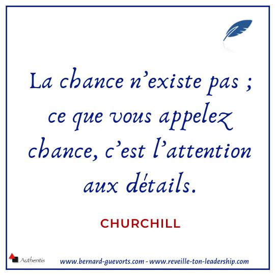 Citation de Churchill sur la chance