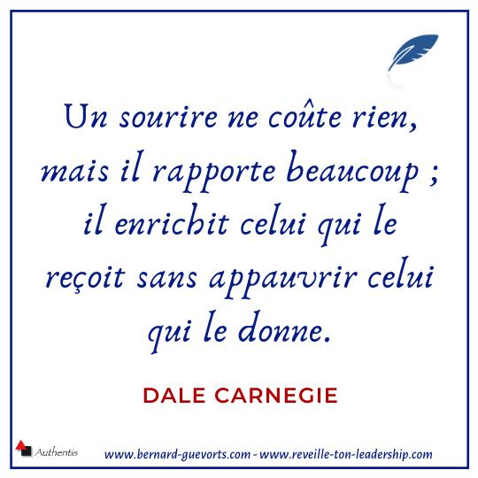 Citation de Dale Carnegie sur le sourire