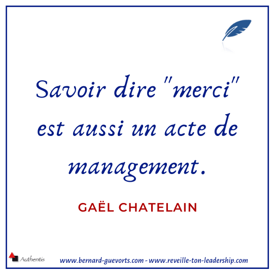 Citation sur le merci Gael chatelain