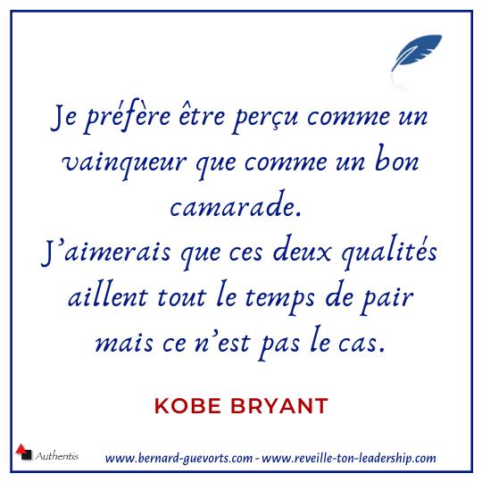 Citation de Kobe Bryant sur son coté vainqueur
