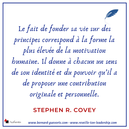 Citation sur principes de S. Covey