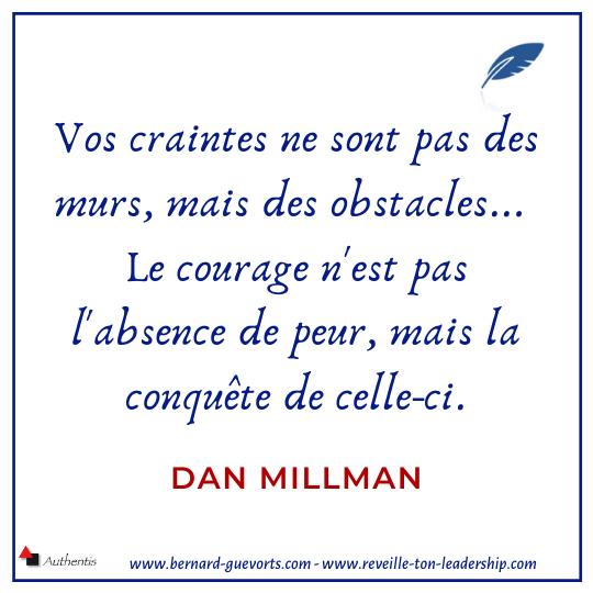Citation de Dan Milman sur courage